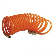 Шланг спиральный с быстроразъемным соединением 5м Intertool PT-1703