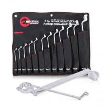 Набор накидных ключей 12шт., 6-32мм Cr-V, покрытие сатин-хром, PROF DIN838