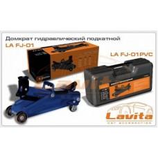 Домкрат гидравлический подкатной 2т 130 - 330 мм в пластиковом кейсе Lavita FJ-02PVC