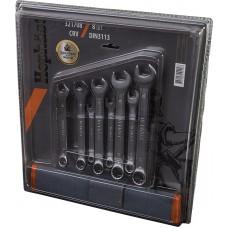 Наб. ключ. рож-нак.CRV DIN3113 12шт в брезенте 6 - 22 мм