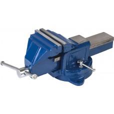 Тиски слесарные поворотные синие 150мм Miol 36-400
