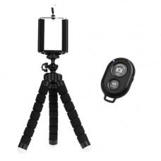 Пульт Bluetooth управления камерой телефона + Гибкий штатив для телефона