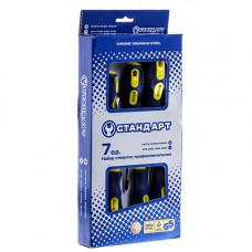 Набор отверток 7 ед. (SL3x75, SL4x100, SL5x150, SL6x150, PH0x75, PH1x80, PH2x100) Стандарт SDS07
