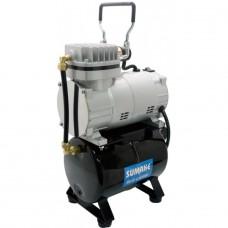 Миникомпрессор низкого давления с ресивером, регулятором и шлангом 1/8HP Sumake MC-1100THRGM