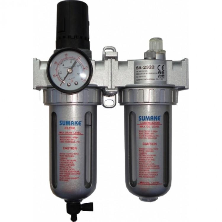 1/4 Фильтр воздушный с регулятором и лубрикатором Sumake SA-2322