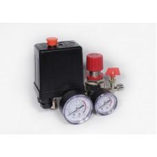 Автоматика к компрессору 3 выход 220вт 2 манометра пластиковые + редуктор кран клапан сброс воздуха - PAtools АвтСб3/220+