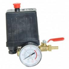 Автоматика к компрессору 3 выход 220вт 1 манометр кран аварийный клапан сброс воздуха- PAtools Авт3/220+