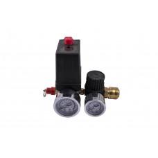 Автоматика для компрессора в сборе малая 220 вольт, 3 выход PAtools (3415)