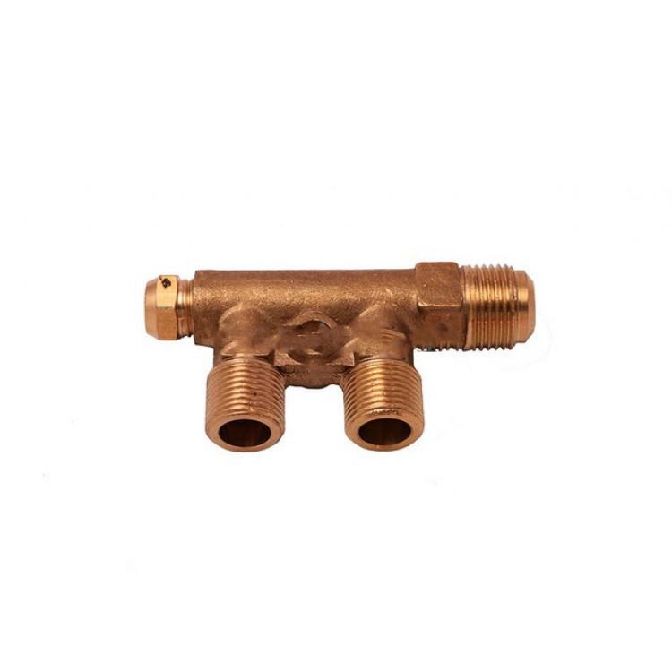 Коллектор компрессора с клапаном холостого хода 1/4*3/8*3/8*19 mm  PAtools 3891