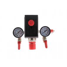 Автоматика для компрессора в сборе 220 вольт, краны 1/4 PAtools Авт10 (220 сборе кран) (4066)