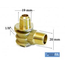 Обратный клапан большой 1/2 (20мм -19мм), медный - PAtools КомпКл3м (4587)