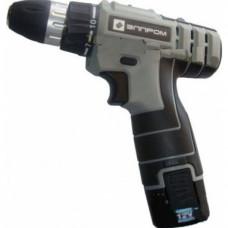 Шуруповёрт аккумуляторный ЭЛПРОМ 12 В. 0-400/1500 об./мин. время зарядки 1 ч. 2 аккумулятора