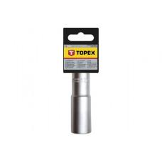 Головка торцевая глубокая 1/2 , 6гр, 13 мм CrV Topex 38D753