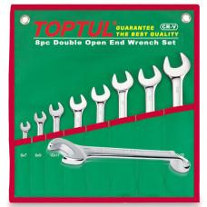 Набор ключей комбинированных (угол 75) 8шт. 8-19мм (в сумке) Toptul GAAA0815