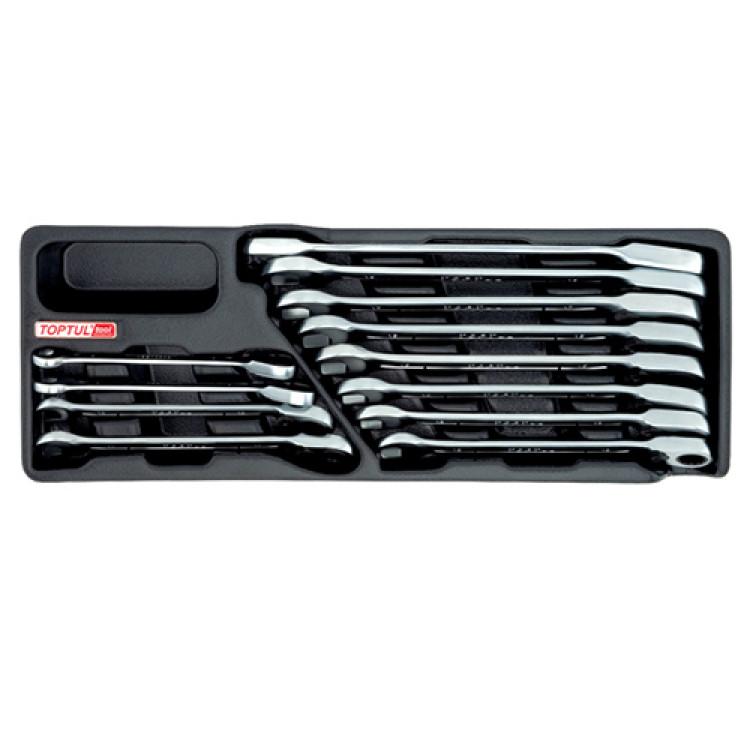 Набор ключей 12 штук с трещоткой 8-19 мм Toptul GAAT1205