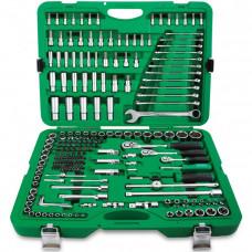 Набор инструмента комбинированный 1/4 и 3/8 и 1/2 216 единиц Toptul GCAI216R