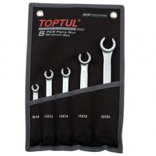 Набор ключей разрезных 5 штук 8-24 (черный чехол) Toptul GPAQ0502