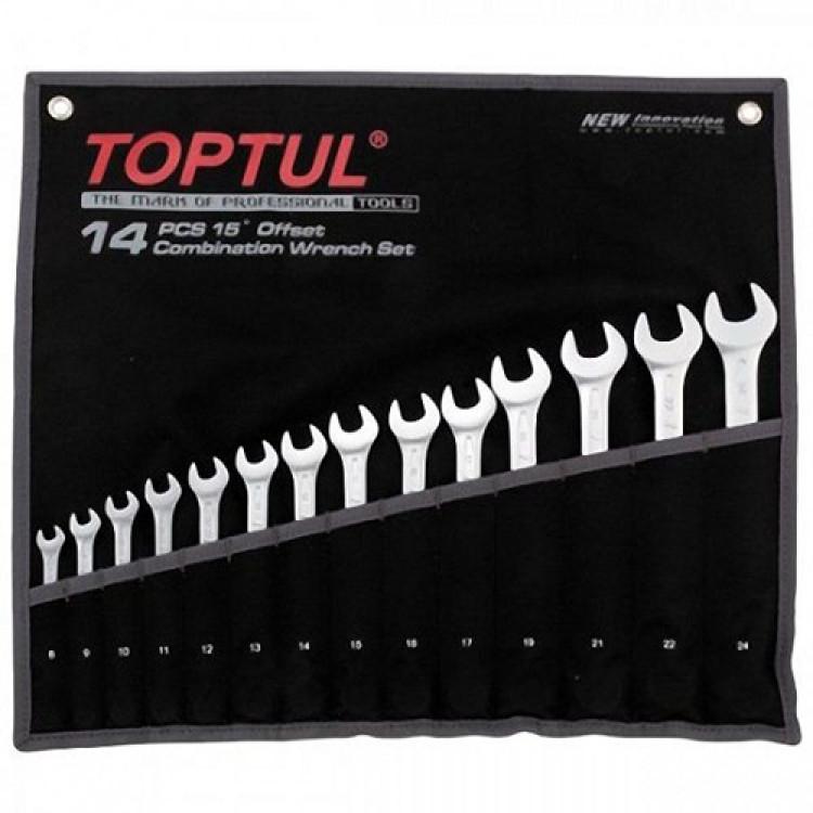 Набор ключей комбинированных 14 шт. 8-24  Hi-Performance Toptul GPAX1402