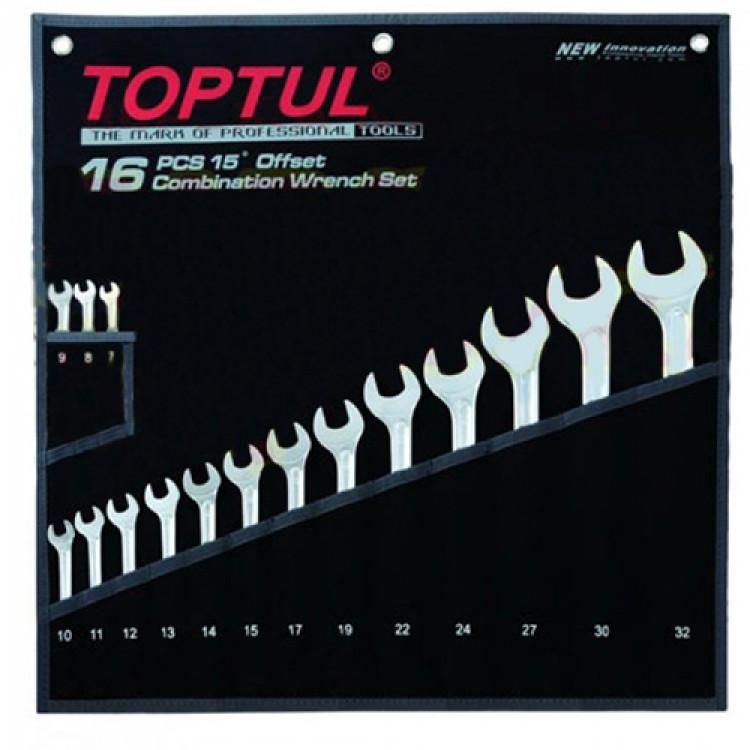 Набор ключей комбинированных 16 шт. 7-32  Hi-Performance Toptul GPAX1601
