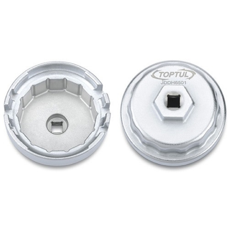 Съёмник м/фильтра ,чашка, 64,5/14мм (4-, 6-, and 8-Cylinder TOYOTA Engines) Toptul JDDH6501