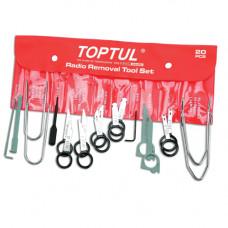 Набор съемников для автомагнитол 20 единиц Toptul JGAA2001
