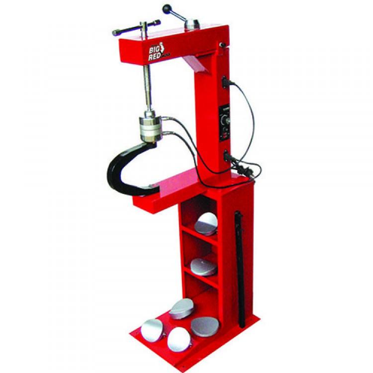Вулканизатор с винтовым прижимом, на стойке, 2 нагревательные пластины, комплект прижимов (6 форм) Torin TRAD004