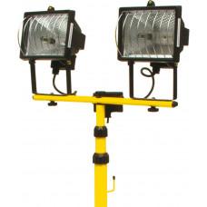 Прожектор галогеновый 2 х 400 Вт, на штативе, черный корпус Toya 82787