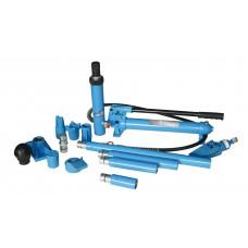Набор гидроцилиндров и насадок для кузовных работ с насосом 10 т (пластиковый кейс на роликах) Unitraum UN71001L