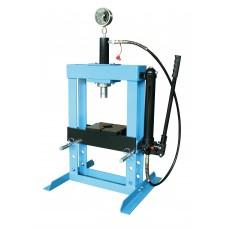 Пресс гидравлический 10 т низкий, с насосом и гидропоршнем с манометром (ход 175 мм) Unitraum UNY10003