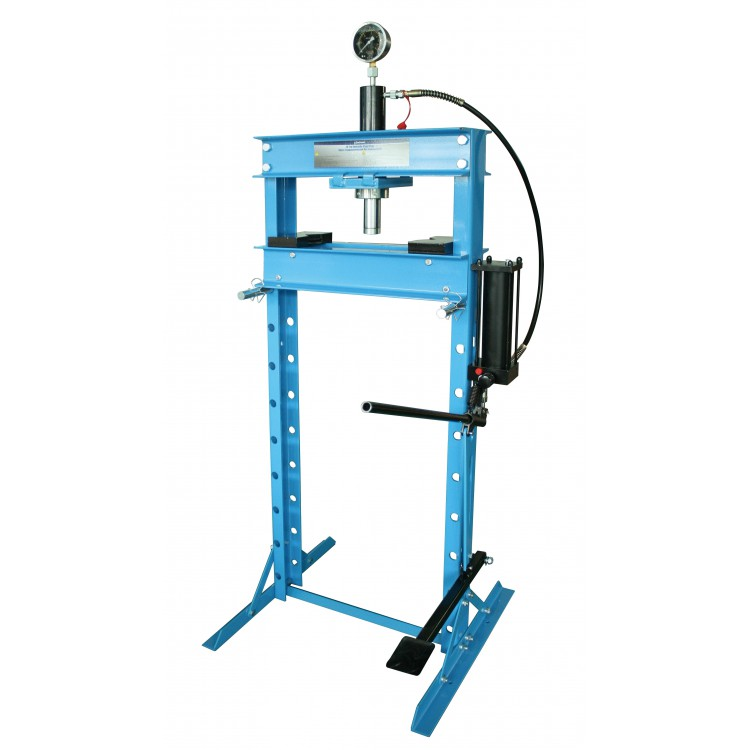 Пресс гидравлический 20 т высокий, с насосом и гидропоршнем с манометром (ход 185 мм) Unitraum UNY20001