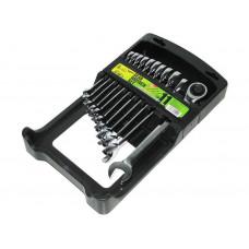 Набор ключей комбинированных с трещоткой 11 предметов, 8-19 мм Alloid НК-2081-11