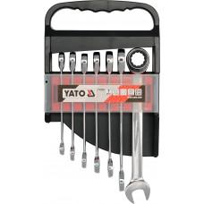 Набор ключей комбинированых с трещоткой 7 штук Yato YT-0208