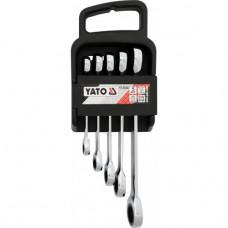 Набор ключей накидных с трещоткой 5 ед. Yato YT-5038